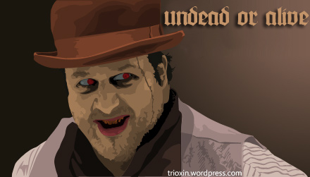 Vector Image for zombie movie undead or alive